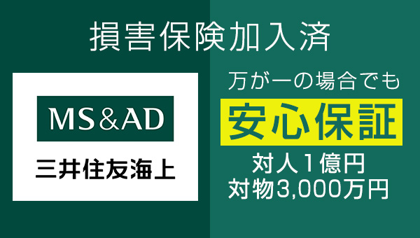 MS&AD 三井住友海上 損害保険加入済み